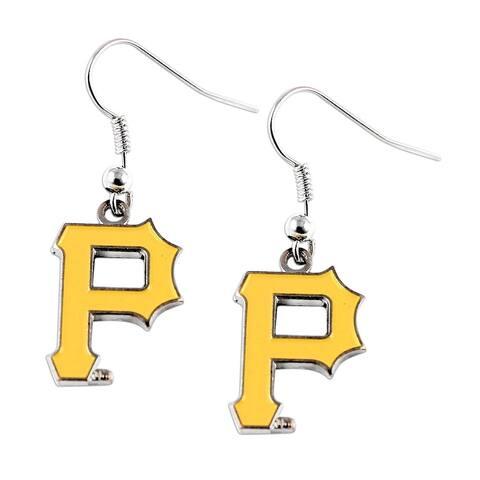 Pittsburgh Pirates Dangle Logo Earring Set MLB Charm Gift - 5/8 inchto 3/4 inch charms