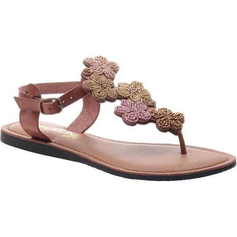 eb7631783 Madeline Women s Lust Thong Sandal Brown Sugar Synthetic