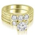 1.75 cttw. 14K Yellow Gold Prong Set Round Cut Diamond Bridal Set - Thumbnail 0