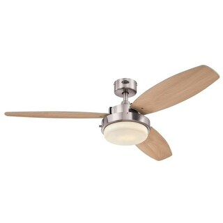 Westinghouse 7209000 Alloy LED 2 Light 3 Blade LED Hanging Ceiling Fan with Reversible Blades, Light Kit and Downrod Included
