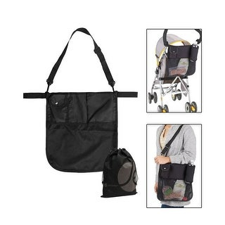 JAVOedge Easy Converting Black Over the Shoulder / Stroller Multi Purpose Attachment Storage Bag with Multipule Pockets