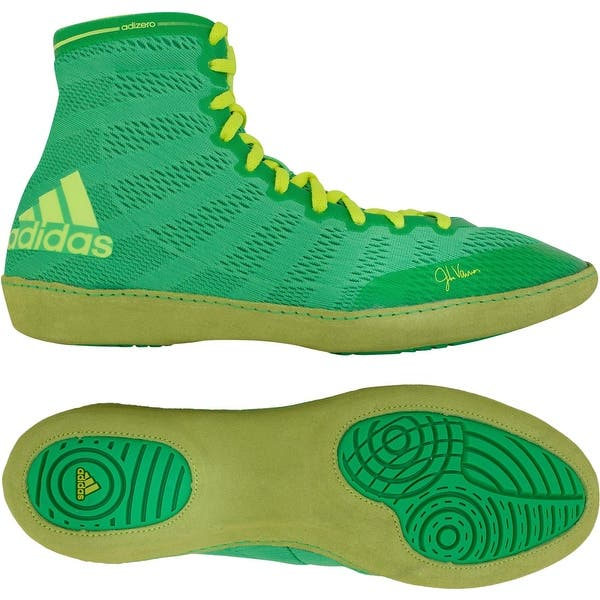 sports shoes 6d1f4 49d85 Adidas adiZero Varner High Top Wrestling Shoes - Flash Lime Yellow