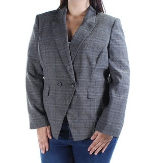 TAHARI $104 Womens New 1065 Gray Blazer Casual Jacket Petites 0 B+B