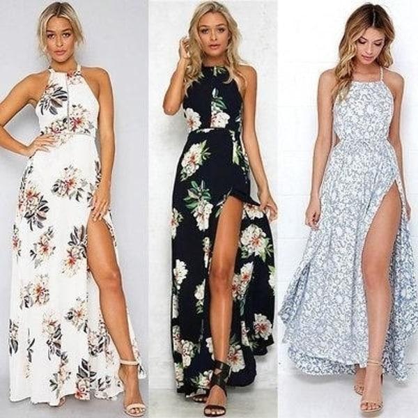 5c425c7eac Shop Women Summer Boho Long Maxi Party Beach Dress Evening Floral ...