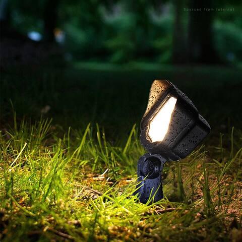 Carré 12W 12V Low Voltage LED Landscape Flood Light, 3000K Warm White, 4-Pack