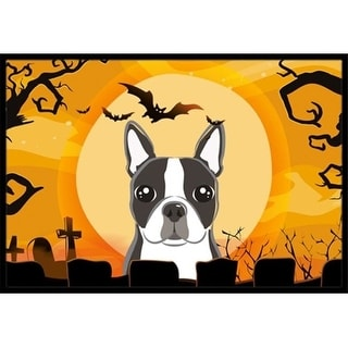 Carolines Treasures BB1761JMAT Halloween Boston Terrier Indoor & Outdoor Mat 24 x 36 in.