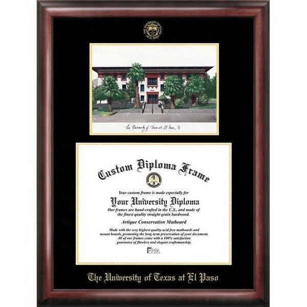 Shop University of Texas El Paso Gold embossed diploma frame with ...