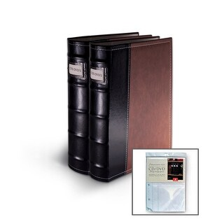 Bellagio-Italia Brown Leather CD/DVD Binder 2 Pack with Bonus Insert Sheets|https://ak1.ostkcdn.com/images/products/is/images/direct/9ab96f0c4d64982109644fd0f589935606ac3904/Bellagio-Italia-Brown-Leather-CD-DVD-Binder-2-Pack-with-Bonus-Insert-Sheets.jpg?_ostk_perf_=percv&impolicy=medium