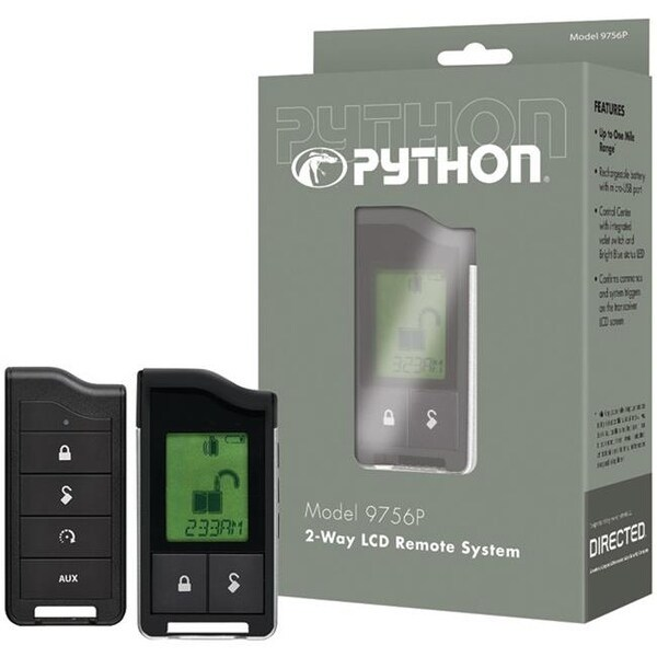 Python 9756P 2-Way LCD RF Remote And Antenna with 1-Mile Range