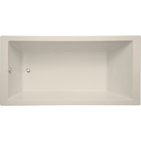 "Mirabelle MIRSKA7236 Sitka 72"" X 36"" Acrylic Air Bathtub for Drop In or Undermount Installations with Reversible Blower and"