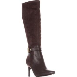 Calvin Klein Jemamine Wide Calf Knee-High Dress Boots, Coffee Bean
