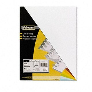 Fellowes PVC Presentation Binding System Covers 8 1/2 x 11 Clear