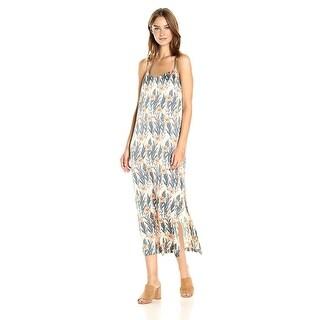 Kensie Printed Adjustable Slip Dress Rosey Nude Combo - xL