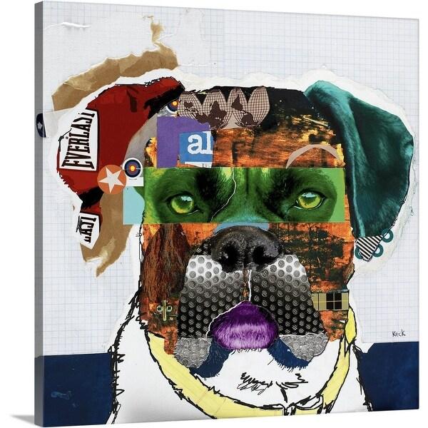 """Boxer"" Canvas Wall Art"