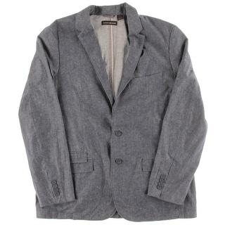 DKNY Jeans Mens Linen Single Vent Sportcoat - XL