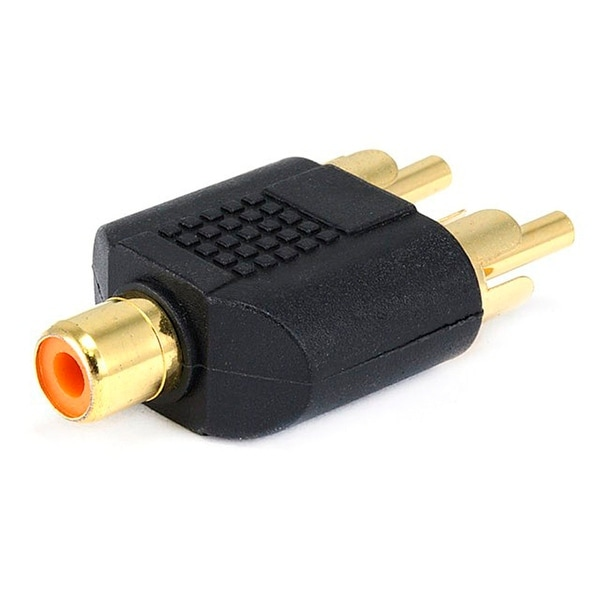 Monoprice RCA Jack to 2x RCA Plug Splitter Adapter, Gold Plated