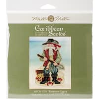 """Barbados Santa Counted Cross Stitch Kit-3""""X4.75"""" 14 Count"""