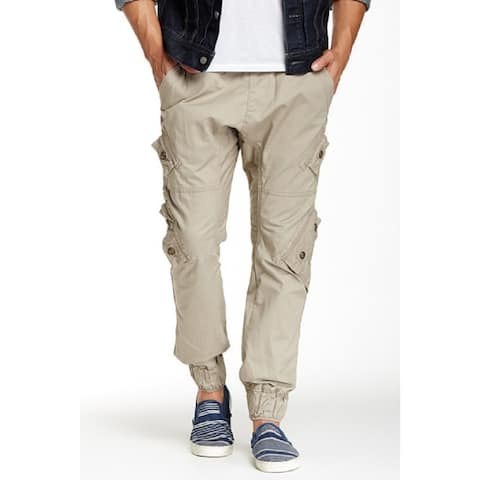 Royal Premium Young Men's Solid Twill-Cargo Jogger Pants