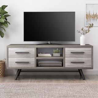 Burgoyne Mid-Century Modern TV Stand with Storage by Christopher Knight Home