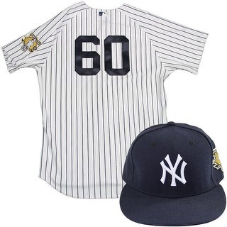 Gary Tuck Uniform NY Yankees 2015 Game Used 60 Jersey and Hat w Bernie Retirement Patch