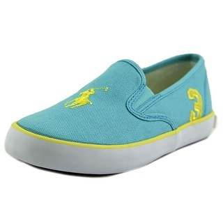 Ralph Lauren Layette Serena II Youth Round Toe Canvas Blue Sneakers