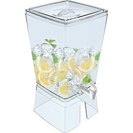 Palais Dinnerware Square Juice and Water Dispenser with Stand 2.5 Gallon