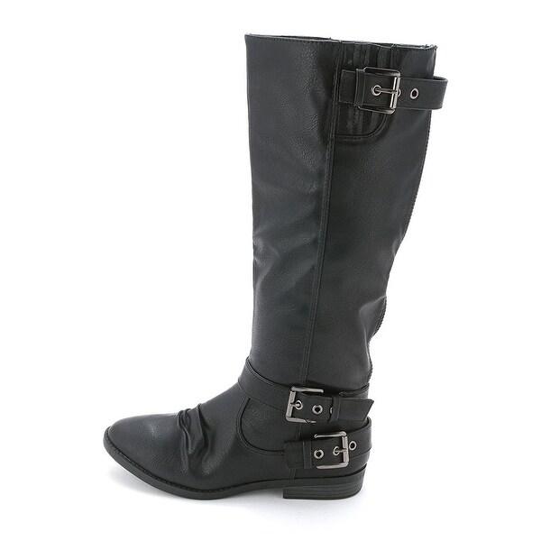 Rampage Womens IDOLA (Wide Calf) Closed Toe Mid-Calf Cowboy Boots