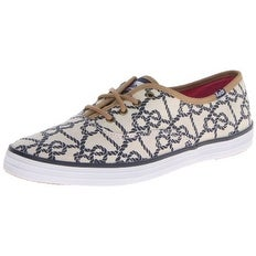 Keds Womens Champion Knot Canvas Low Top Lace Up Fashion Sneakers