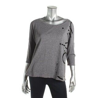 Calvin Klein Performance Womens Pullover Top 3/4 Sleeve Pull On - L