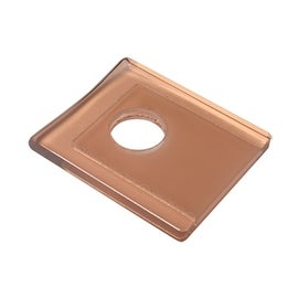 Replacement Waterfall Faucet Square Glass Plate Zinfandel