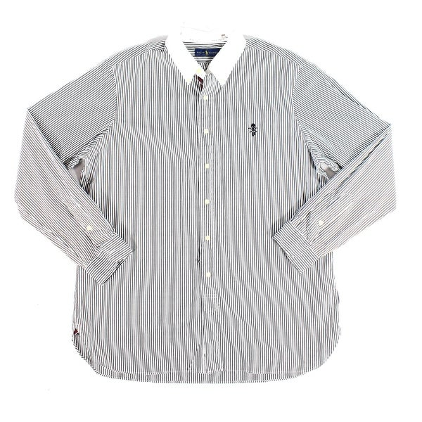 21ccebf4 Ralph Lauren White Mens Shirt Button Down Stripe Print