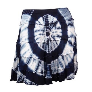 INC Women's Liberty Star Embellished Tie-Dye Mini Skirt