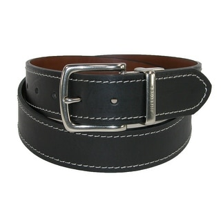 Tommy Hilfiger Men's Reversible Belt with Contrast Stitch - black to brown