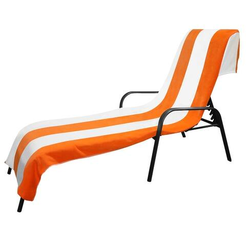 Miranda Haus Cotton Cabana Stripe Standard Size Lounge Chair Cover