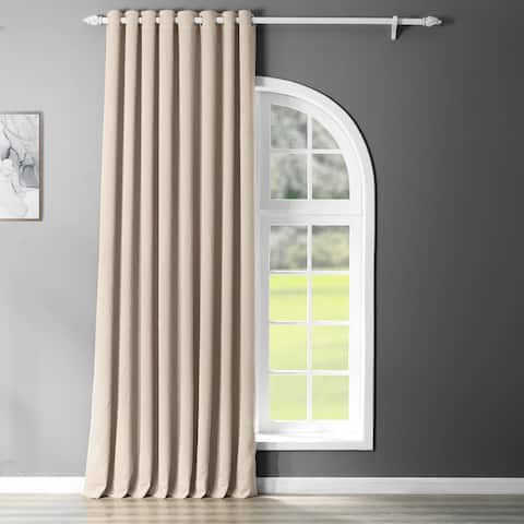 Exclusive Fabrics Extra Wide Blackout Grommet 120-inch Curtain Panel - 120 x 100