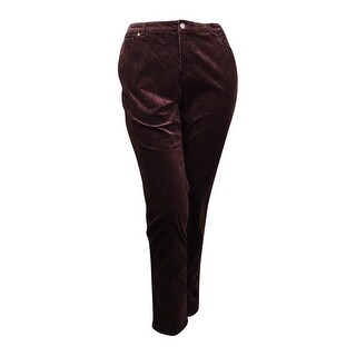 Charter Club Women's Paisley Lexington Corduroy Pants - rich truffle