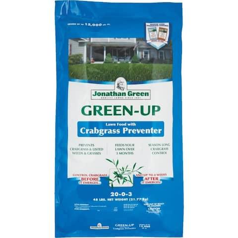 Jonathan Green 10457 Green-Up Crabgrass Preventor w/Lawn Fertilizer, 22-0-3, 48Lb