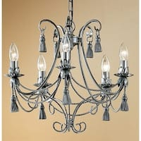 """Classic Lighting 4035 Rope and Tassel 5 Light 20"""" Wide Single Tier Taper Candle Style Chandelier"""