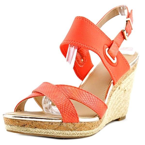 Alfani Pursue Open Toe Synthetic Wedge Sandal