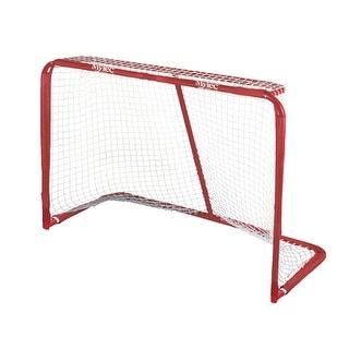 Mylec 78 x 48 x 33 Official Pro Steel Floor Hockey Goal, Red