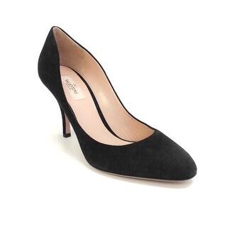 Link to Valentino Women's Rockstud-Embellished Suede Pumps Black Similar Items in Designer Shoes