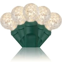 Wintergreen Lighting 71359 70 Bulb 24 Foot Long LED Decorative Holiday String Lights with Green Wire