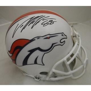Von Miller Autographed Denver Broncos Full Size Custom White Proline Helmet JSA