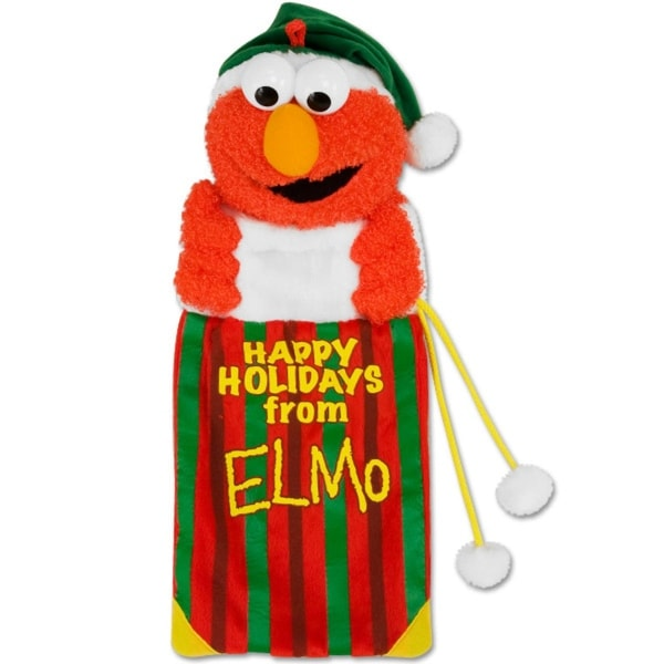 "18"" Sesame Street Plush ""Happy Holidays from Elmo"" Christmas Stocking - RED"