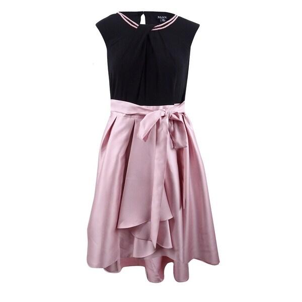 Shop SL Fashions Women\'s Plus Size Mikado Satin High-Low Dress ...