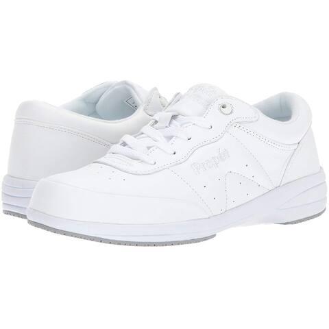 Propét Womens Washable Walker Leather Low Top Lace Up Walking Shoes