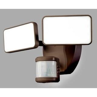"Heath Zenith HZ-5867 2 Light 10-25/32"" Wide Integrated LED Outdoor Dual Head Flood Light - Motion Sensor Activated"