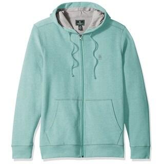 G.H. Bass & Co. Green Mens Size Medium M Full Zip Hooded Sweater