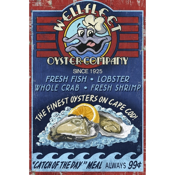 Cape Cod MA Wellfleet Oyster Co Bar LP Artwork (Art Print - Multiple Sizes)
