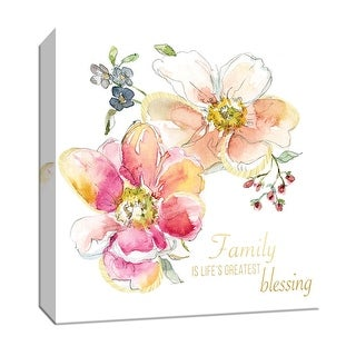 """PTM Images 9-147883  PTM Canvas Collection 12"""" x 12"""" - """"Family Blessing"""" Giclee Sayings & Quotes Art Print on Canvas"""